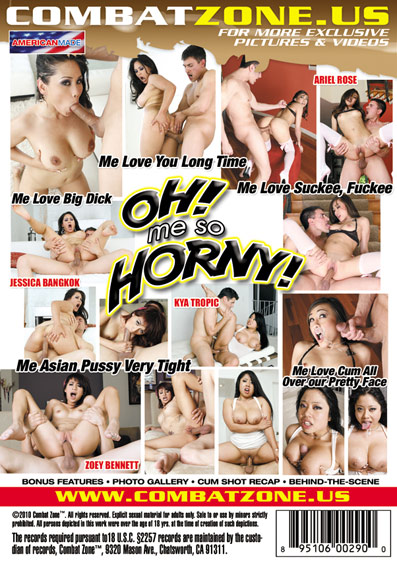 Oh! Me So Horny! DVD back cover