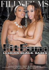 FitFam Lesbian Black Babes DVD front cover