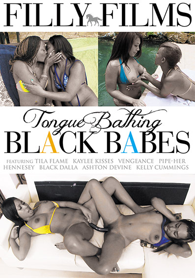 Tongue Bathing Black Babes DVD front cover